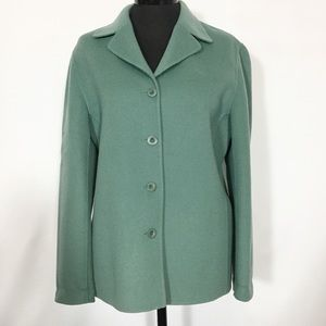 Talbots 100% Wool Felt Jacket Unlined Size 6